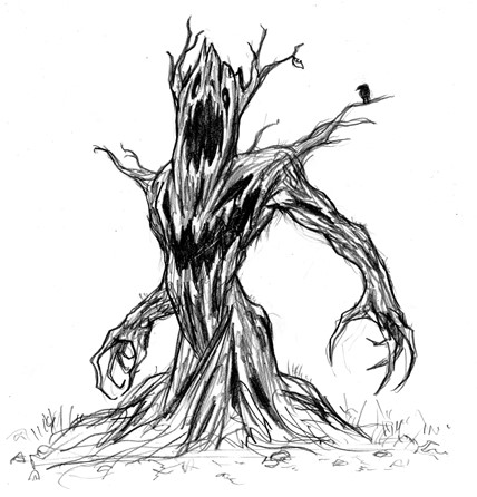 人面樹のイラスト
