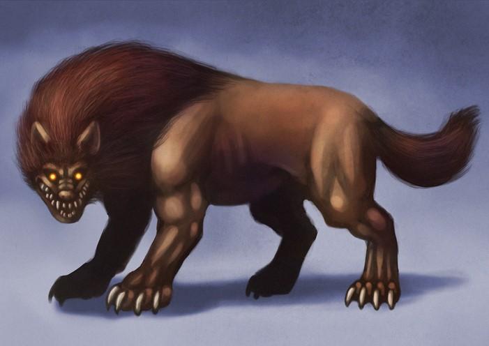ジェヴォーダンの獣のイラスト