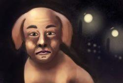 人面犬のイラスト
