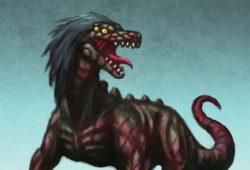 SCP-682「不死身の爬虫類」のイラスト