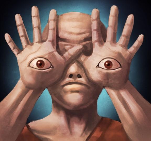 手の目のイラスト